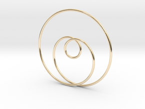 Simple Love in 14k Gold Plated Brass