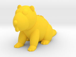 Beaver (Nikoss'Animals) in Yellow Processed Versatile Plastic