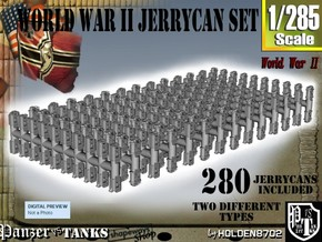 1-285 US & German Jerrycans Set in Frosted Extreme Detail