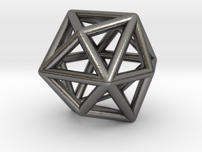 0331 Tetrakis Hexahedron E (a=1cm) #001 in Polished Nickel Steel