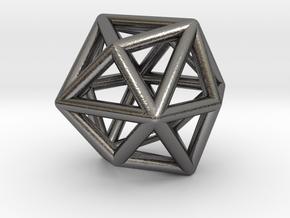 0331 Tetrakis Hexahedron E (a=1cm) #001 in Polished Nickel Steel