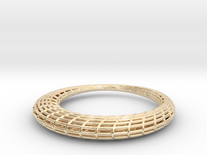 Elliptic Mesh pendant in 14k Gold Plated Brass