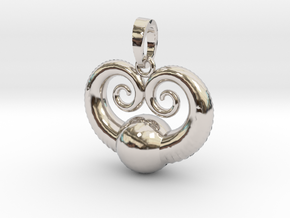 Sea World Pendant in Rhodium Plated Brass