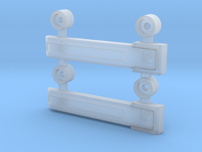AJ10004 Rear Door Hinges (SCX10) in Frosted Ultra Detail