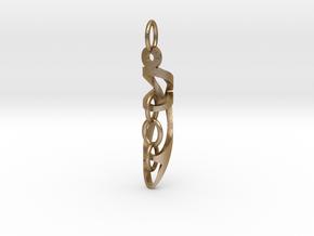 Interlock Pendant in Polished Gold Steel