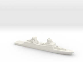 FGS F125 Class Frigate w/ barrels, 1/3000 in White Strong & Flexible