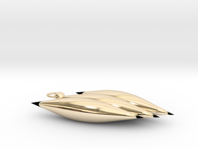 Cold Chain Cone in 14k Gold Plated Brass