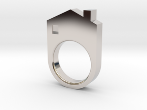 House Ring in Platinum