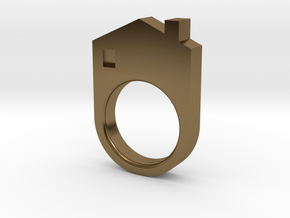 House Ring in Polished Bronze