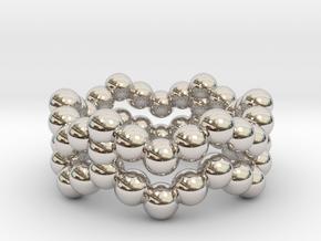Ring Sphere 2 waved in Platinum