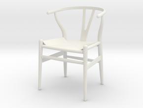 1:12 Modern Dollhouse Chair  in White Strong & Flexible