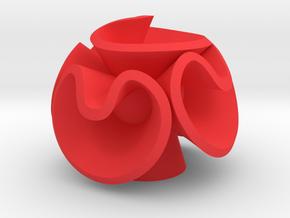Orecchino Fiore Palla 3 in Red Strong & Flexible Polished