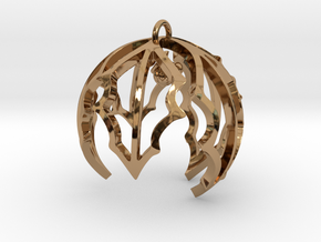 Holly Ornament in Polished Brass
