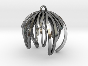 Rosemary Ornament in Polished Silver