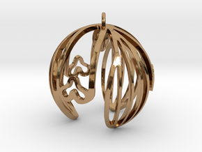 Snowdrop Ornament in Polished Brass