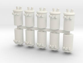 Power Pole Transformer 1-87 HO Scale in White Natural Versatile Plastic