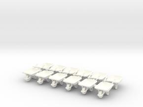 Wheelbarrow 01. HO Scale (1:87) in White Strong & Flexible Polished
