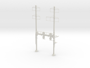 HO Scale PRR W-signal Beam 2 Track  W 2-3 PHASE R in White Natural Versatile Plastic