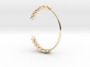 Wheat Bracelet in 14k Gold Plated Brass: Medium