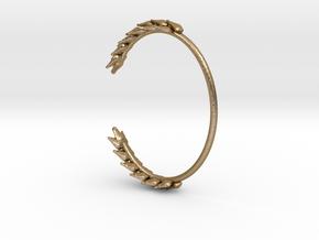 Wheat Bracelet in Polished Gold Steel: Medium