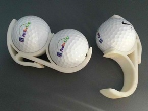 Golf Ball Belt Clip in White Natural Versatile Plastic