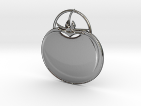 Tomato Pendant in Fine Detail Polished Silver
