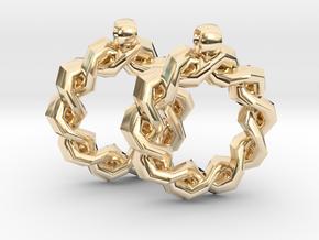 God Star Earring in 14k Gold Plated Brass