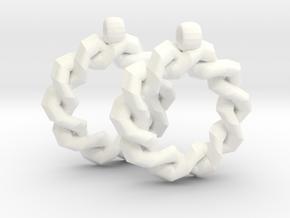 God Star Earring in White Processed Versatile Plastic