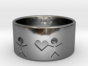 Grab your heart in Fine Detail Polished Silver
