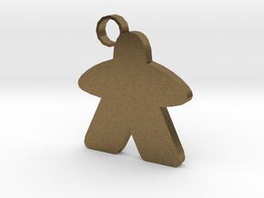 Keychain person in Raw Bronze
