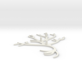 Branch Hook in White Natural Versatile Plastic