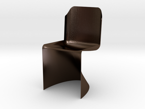 Modeling Lounge Chair in Polished Bronze Steel