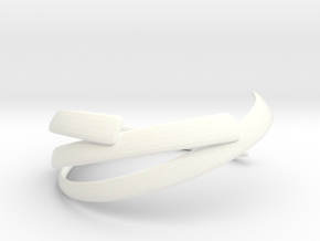 Lustrate Ring in White Processed Versatile Plastic