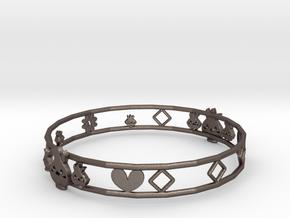 chick bracelet in Polished Bronzed Silver Steel