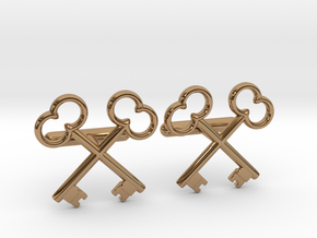 The Society of the Crossed Keys Cufflinks in Polished Brass