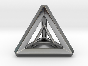 Tetra Prism in Polished Silver