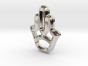 Symbol in Rhodium Plated Brass