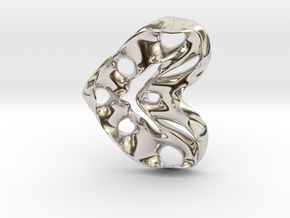 LoveHeart RoyalModel in Rhodium Plated Brass