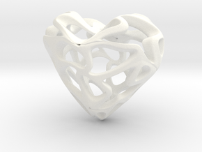 LoveHeart in White Processed Versatile Plastic