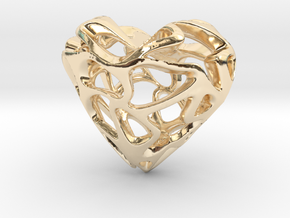 Loveheart in 14k Gold Plated Brass