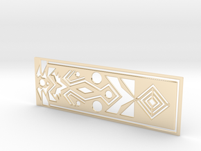 Geometry bookmark in 14K Gold