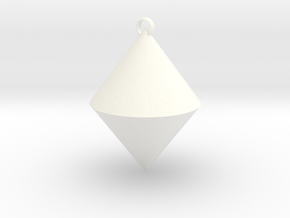 The pendant of cone in White Processed Versatile Plastic