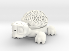 Soap Dish - Turtle in White Strong & Flexible Polished