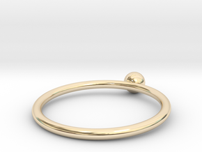 Pearl ring UNIK - size 52 in 14k Gold Plated Brass