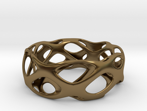 Bracelet Wave Cell Cycle in Polished Bronze