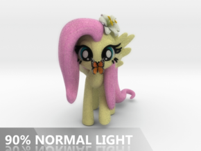 Fluttershy 1 Full Color - XL in Full Color Sandstone