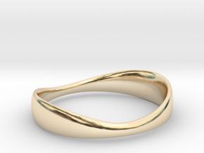Silverflow Ring 16mm in 14k Gold Plated Brass