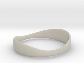 Silverflow Ring 16mm in Natural Sandstone