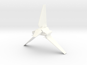 Imperial Lambda Shuttle - Wings Extended  in White Processed Versatile Plastic