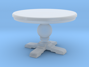 1:24 Round trestle table in Smooth Fine Detail Plastic